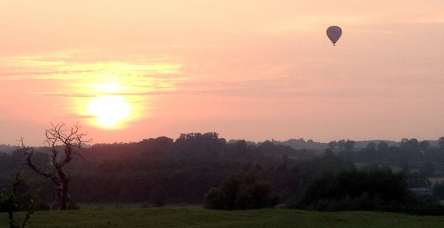 View from the A607 - the ladybird balloon is a familar sight on nice summer's evening across the Vale of Belvoir