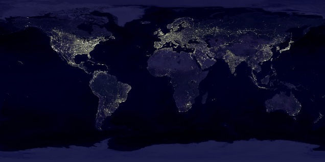 Variations on this photograph - a satellite image of the earth at night showing the extent of artificial lighting - was the most widely used photograph throughout various talks and rightly so - it serves to show just what an impact we have on the natural environment.